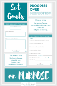 Set goals on purpose with these 10 worksheets and take the challenge.