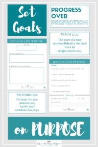 set goals on purpose