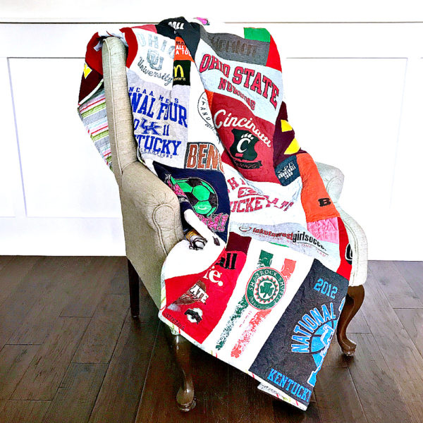 Custom t-shirt quilt full view