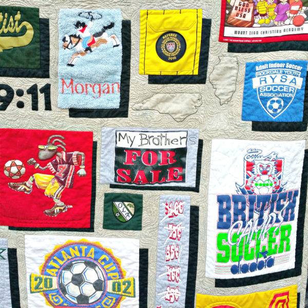 Custom t-shirt quilt for Morgan