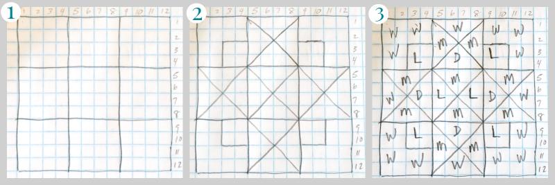 barn quilt grid pattern