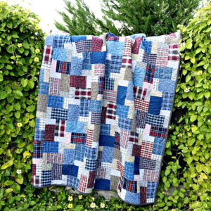 Memory Quilt from dad's clothing