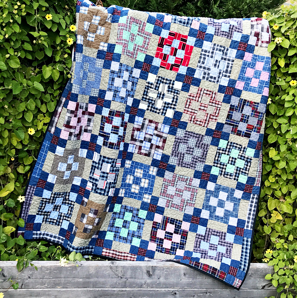Plaid and Denim Memory Quilt