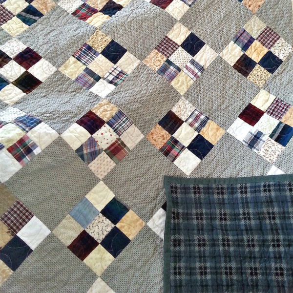 Plaid shirts memory quilt