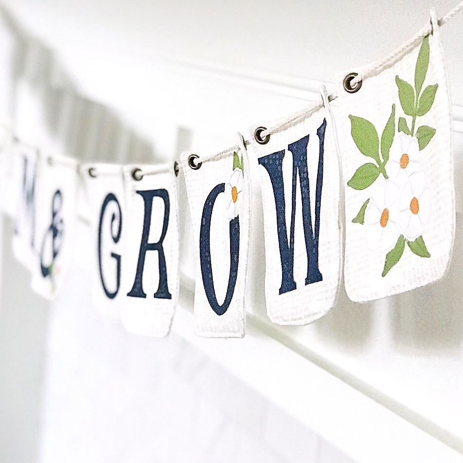 Fabric Bunting Bloom and Grow